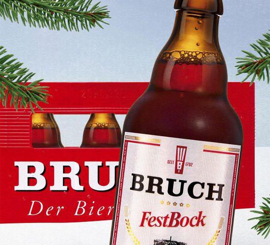 Bruch Bier FestBock Plakat - Ein starkes Stück Saarland