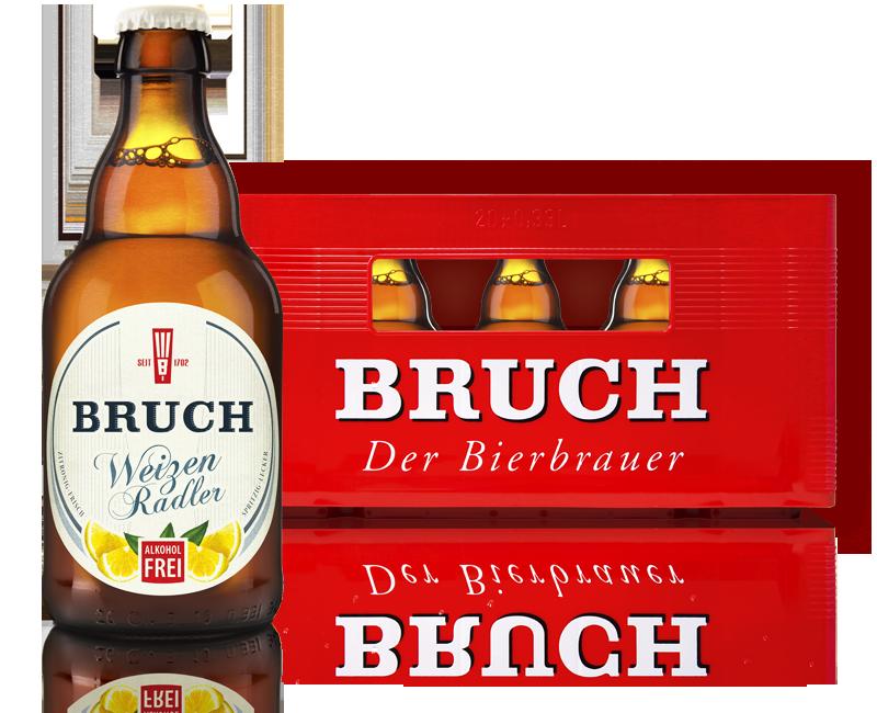 Bruch Weizen Radler alkoholfrei im Stubbi