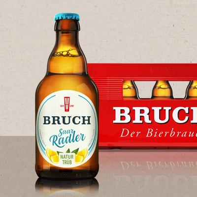 Neu-das SaarRadler von Bruch, jetzt als leckeres naturtrübes Radler.